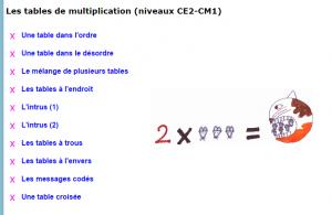 12 r viser les tables de multiplication ecole voltaire - Reviser ses tables de multiplications ...